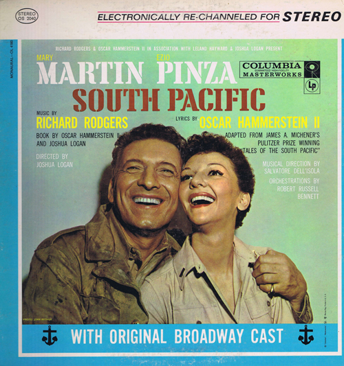 Mary Martin, Ezio Pinza, Richard Rodgers / Oscar Hammerstein II ‎– South Pacific With Original Broadway Cast