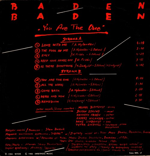 Baden Baden ‎– You Are The One